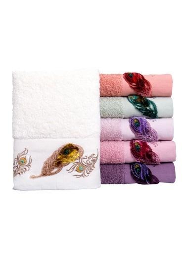 Minteks Ece Nefer 50x90 6 lı 6 Renk Havlu Seti Renkli